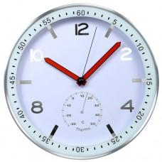 Стенен часовник с термометър