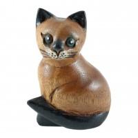 Дървена фигура Котка