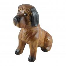 Дървена фигура Куче