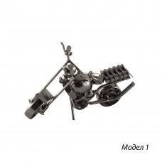 Метална фигура за декорация Мотоциклет - 14 см