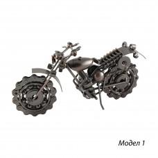 Метална фигура за декорация Мотоциклет - 22 см
