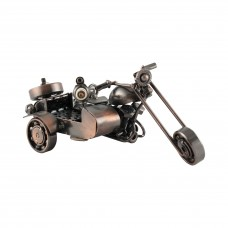 Метална фигура за декорация - Мотоциклет с кош
