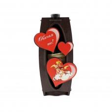 Подаръчна кутия с вино - Обичам те