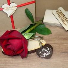 Метален ключодържател Valentine