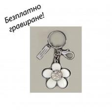 Дамски метален ключодържател Flower