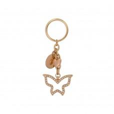 Дамски метален ключодържател Butterfly