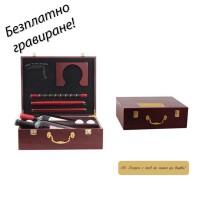 Комплект за мини голф с кутия за вино Eagle