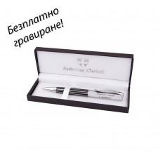 Метална химикалка Stripe в кутия