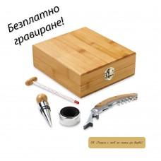 Kомплект за вино от бамбук