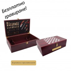 Комплект за вино с шах Roma