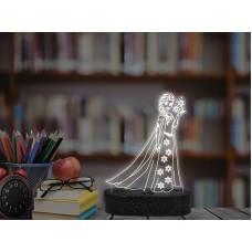 3D LED нощна лампа ELSA