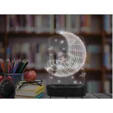 3D LED нощна лампа MOON