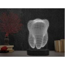 3D LED нощна лампа DENTAL