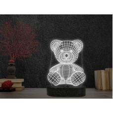 3D LED нощна лампа BEAR
