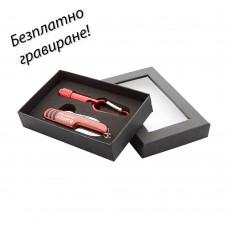 Комплект джобно ножче и фенерче Adventure