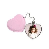 Дамско огледалце Сърце със снимка