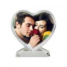 Кристал сърце със снимка