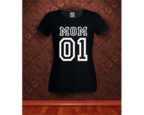 Дамска тениска с надпис Mom 01