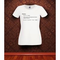 Дамска тениска с надпис Mother