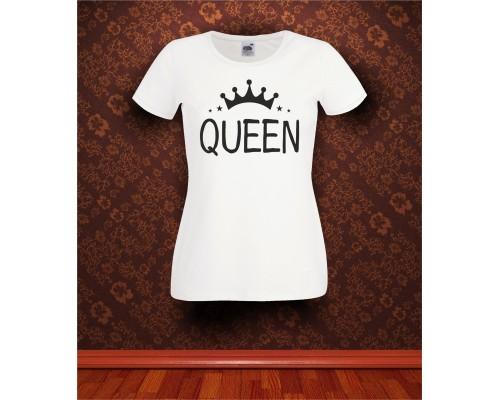 Дамска тениска с надпис Queen