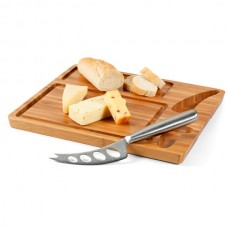Бамбукова дъска за сирене и нож